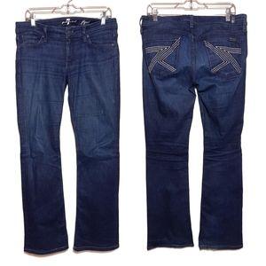 7 For All Mankind Flynt Flare Leg Jeans 29×32
